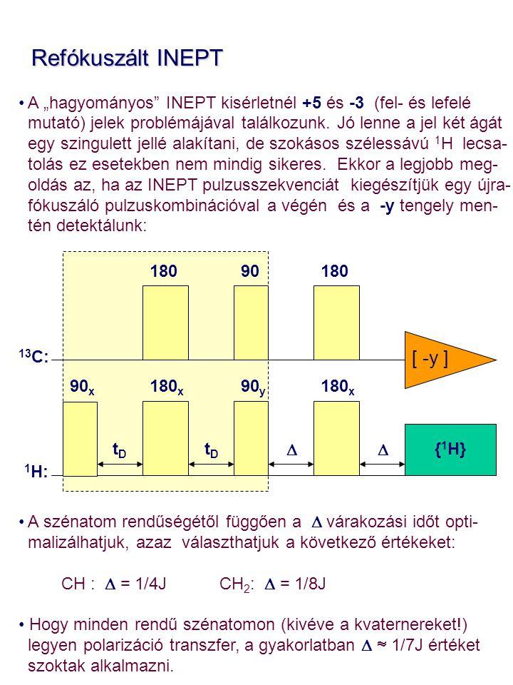 Refókuszált INEPT [ -y ]